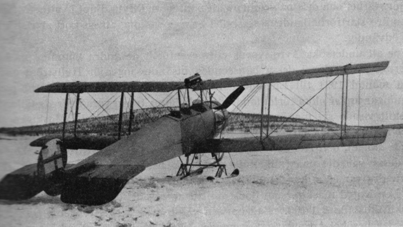 Avro 504KL, S-IAG, Nr. 3 on skis operating the service Porjus - Suorva.